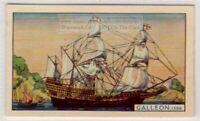 """1598 English Galleon """"Elizabeth Jonas"""" Spanish Armada  75+ Y/O Ad Card"""