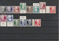 DDR FRÜHAUSGABEN 1953 Teilsatz Köpfe aus Mi. Nr. 327 - 341 xx teilgeprüft