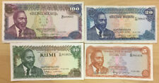 Kenya Banknote P75-78 Complete Set 5 10-20-100 Shillings 1978, EF or Better