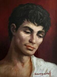 Portrait d'homme/ huile sur toile / réalisée par ANATOLA SOUNGOUROFF (1911-1982)