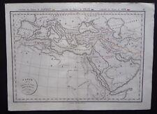 § carte Dispersion des Peuples après le déluge - Félix Delamarche 1829