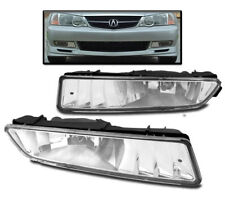 2002-2003 ACURA TL CHROME FRONT BUMPER FOG LIGHTS DRIVING LAMP CLEAR+HARNESS SET