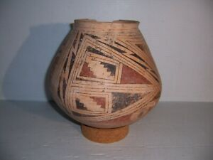 Pre-Columbian Casas Grandes Parrot Feather Pottery Olla Jar Pot Vessel Artifact