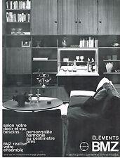 PUBLICITE ADVERTISING 094  1967  BMZ  meubles éléments