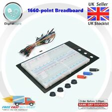 1660 Point Solderless Prototyping Large Breadboard + 65pc Jumper wires-  420 830