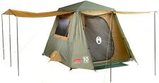 New Coleman Instant Up 4 Person Outdoor Camping Hiking Gold Full Fly Family Tent