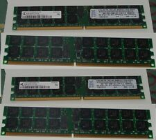 8GB RAM PC2-3200R-333 DDR2-400 4*2GB ECC REGISTERED SERVER WORKSTATION MEMORY