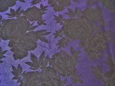 Francés Suave Tela Para Trajes Chevron Floral jacquard-purple / Negro -dress