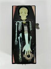 Vintage 1960s Yone Coffin Coin Bank Black Tin Windup Green Skeleton Japan