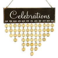 Rustic Celebrations Reminder Calendar Wooden Board Plaque Sign Hanging Decor