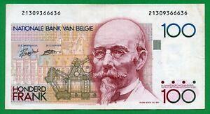 Belgium 100 Francs 1982 , P-147, XF-
