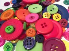50g Assortiment de couleurs vives Candy vrac bouton mix, arts crafts scrapbooks couture