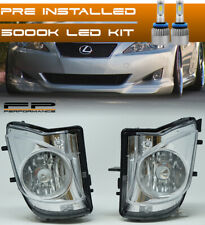 For 06-09 Lexus IS250 350 LED Replacement Fog lights Housing Assembly Clear Pair