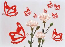 Wandaufkleber,Wandtattoo, Schmetterlinge 9 Stück versch.Größen, Schmetterling