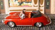 PORSCHE 356B CABRIOLET 1959 HIGHSPEED 1/43 RED ROUGE