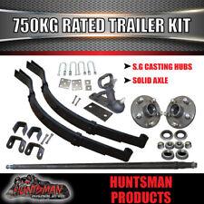 750Kg DIY Trailer Kit, Solid Axle, S.G Cast Hubs, Heavy duty Springs & U bolts