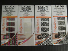 4 SALLY HANSEN SALON EFFECTS LIMITED EDITION NAIL STICKERS - NEW - EL 2183