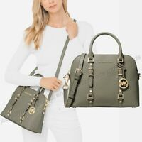 NWT 🌳 Michael Kors Bedford Legacy Dome Leather Satchel Crossbody Army Green