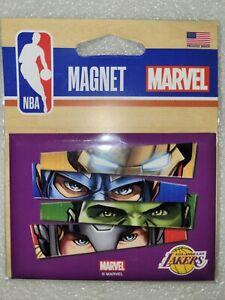 "NIP Wincraft Marvel Comics Avengers Los Angeles Lakers Fridge Magnet 2.5"" x 3.5"""