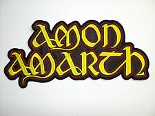 AMON AMARTH YELLOW LOGO    EMBROIDERED BACK PATCH