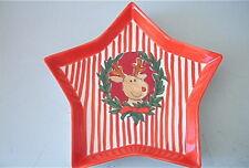 Mila 74110 - Weihnachtsteller Rentier - Form Stern - Neu
