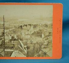 1870s French Stereoview Photo Lyon Panorama Jonction Du Rhone Et La Saone France