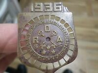 1936 Rare Medal, Unknown, Letters O R A S S, Keys in Picture
