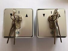 2 Key Switches with 3 keys each for Shutters / Garage Door
