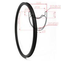 Asymmetric Carbon MTB Rim 29er 33mm Wide 29mm Depth 28/32Hole XC Rim Tubeless UD
