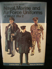 "Book ""Naval Marine & Air Force Uniforms of WW II"" pictures wording USA Eng Ger"