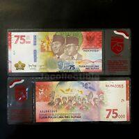Indonesia 75000 Rupiah 75,000 Commemorative 2020 New Release