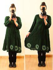 Grün 50 52 54 Lagenlook Long Tunika KLEID Hippie Larp Mittelalter Gothic Vintage