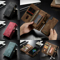 For iPhone 11 Pro Max XS Genuine CaseMe Magnetic Leather Wallet Card Case Cover