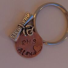 Graduation Penny keychain.  Great for Graduates, metal and modern style