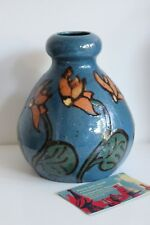 Vase Ancien Poterie de Savoie Signé SISPA décor Floral