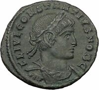 CONSTANTIUS II son of  Constantine the Great  Roman Coin Glory of  Army  i32422