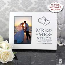 Personalised Mr & Mrs Light Up Photo Frame. Wedding Gift Idea. Anniversary Gift