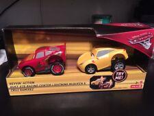 NEW Mattel Disney Pixar Cars 3 Revvin' Action Lightning Mcqueen & Cruz Twin Pack