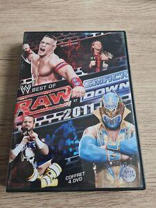 COFFRET 4 DVD BEST OF RAW ET SMACKDOWN 2011 WWE CATCH VERSION FRANÇAISE RARE