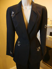 STUNNING, NEW THIERRY MUGLER PANT SUIT WITH CRAZY COOL METAL DETAILING