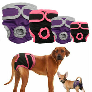 Female Dog Sanitary Nappy Diaper Pet Physiological Pants Shorts Underwear S-XL