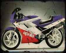 Aprilia Af1 125 Sintesi A4 Metal Sign Motorbike Vintage Aged