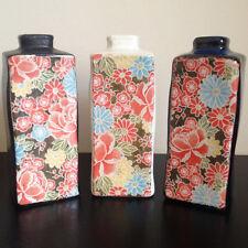 Ceramic Vases - Shiki Yuzen Rectangle Beautiful Japanese Floral design Gift Set