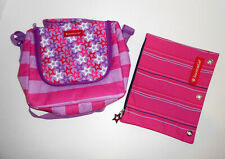 American Girl Purple Star Lunch Tote Bag Lunchbox Binder Pencil Pouch For Girls