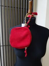 UNISA Leather Suede Clutch Bag Womens Red Clutch Mini Bag Small New With Tag