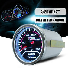 2'' 52mm Water Temp Temperature Gauge Car Smoke Len LED Indicator Pointer Meter