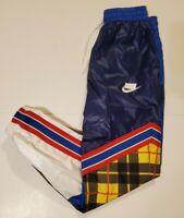 CI7917-492 Nike Sportswear Women's Woven Plaid Pants Blue Size XS RETAIL $90