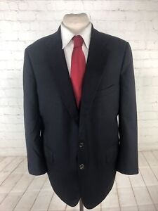 Royal Classic by Tom James Men's Black Blazer Solid Blazer 48R $895