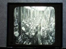 VINTAGE COLLECTIBLE GLASS PICTURE NEGATIVE Weaving Cotton in Mill at Lima Peru