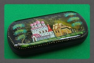New hard case for glasses. Hand-painted.Russian souvenir. # B-07